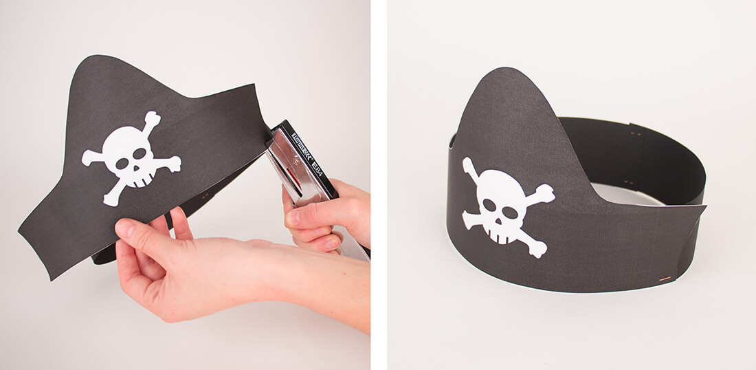 Do it yourself easy and free to do a pirate hat for a birthday party