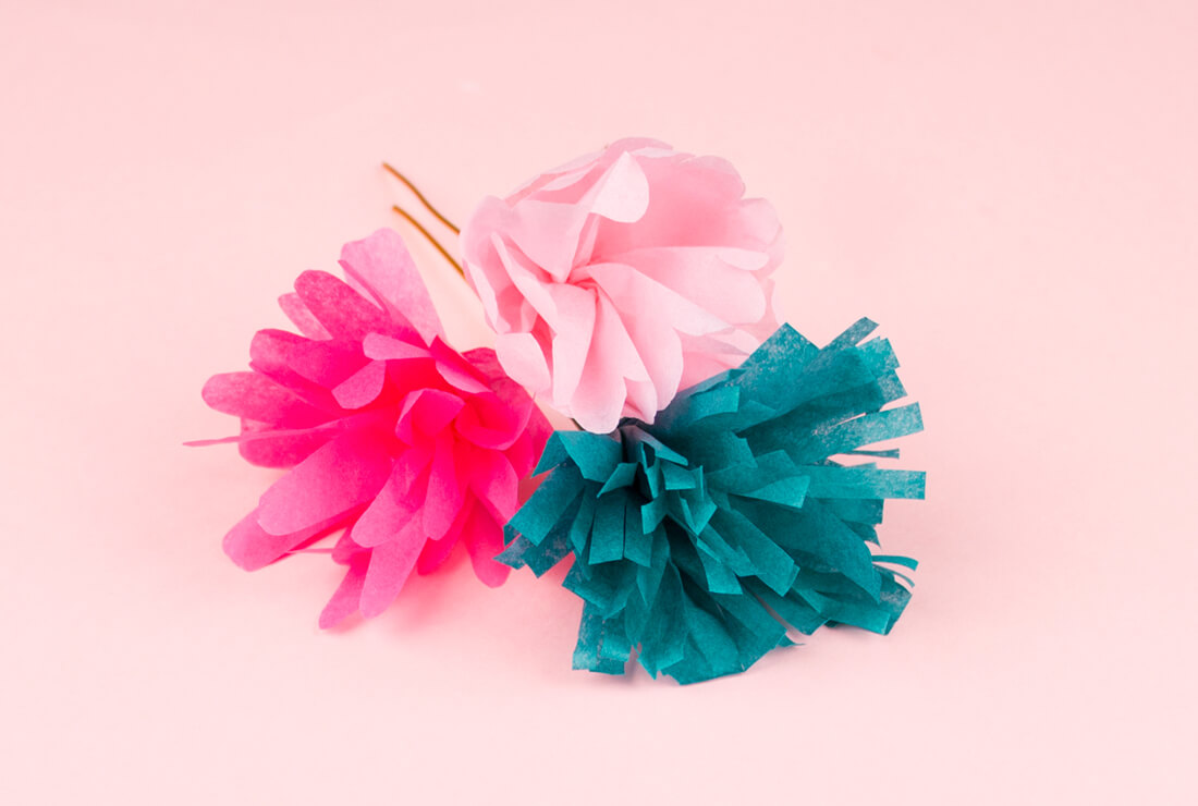 DIY My Little Day to make paper flowers