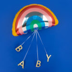baby shower rainbow balloon