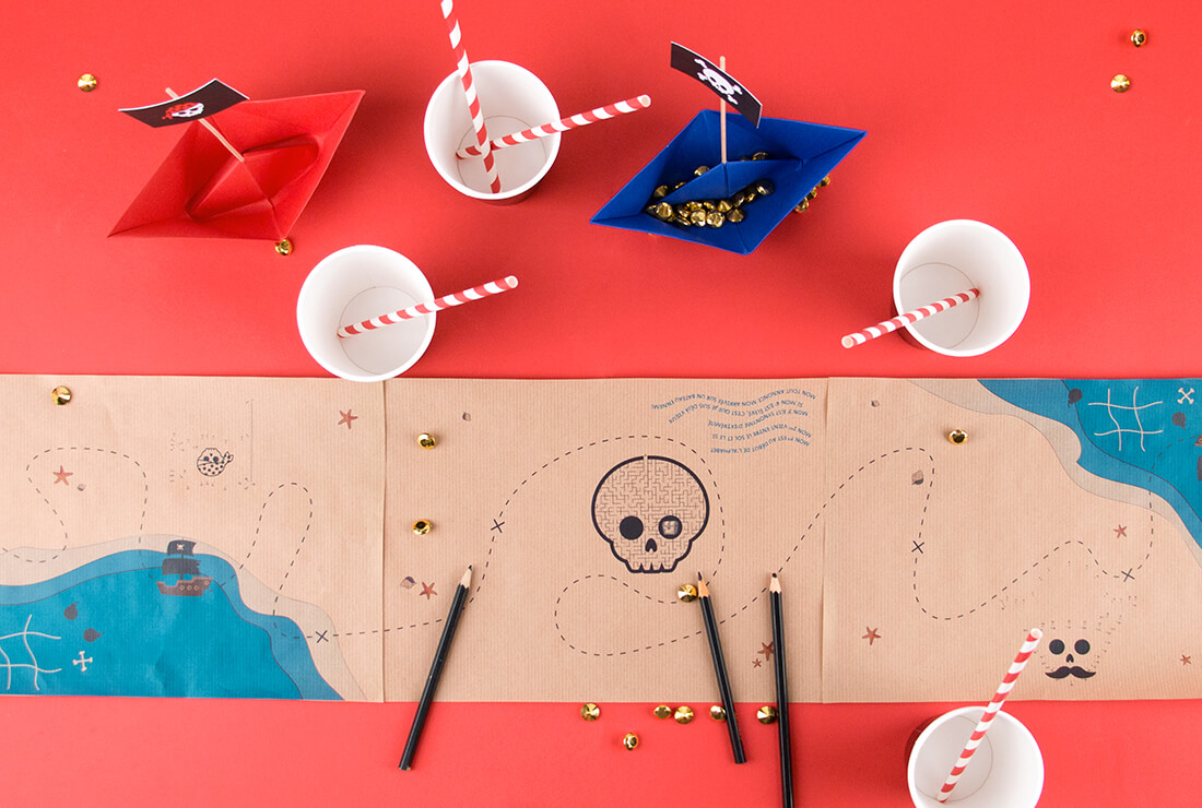 DIY chemin de table pirate