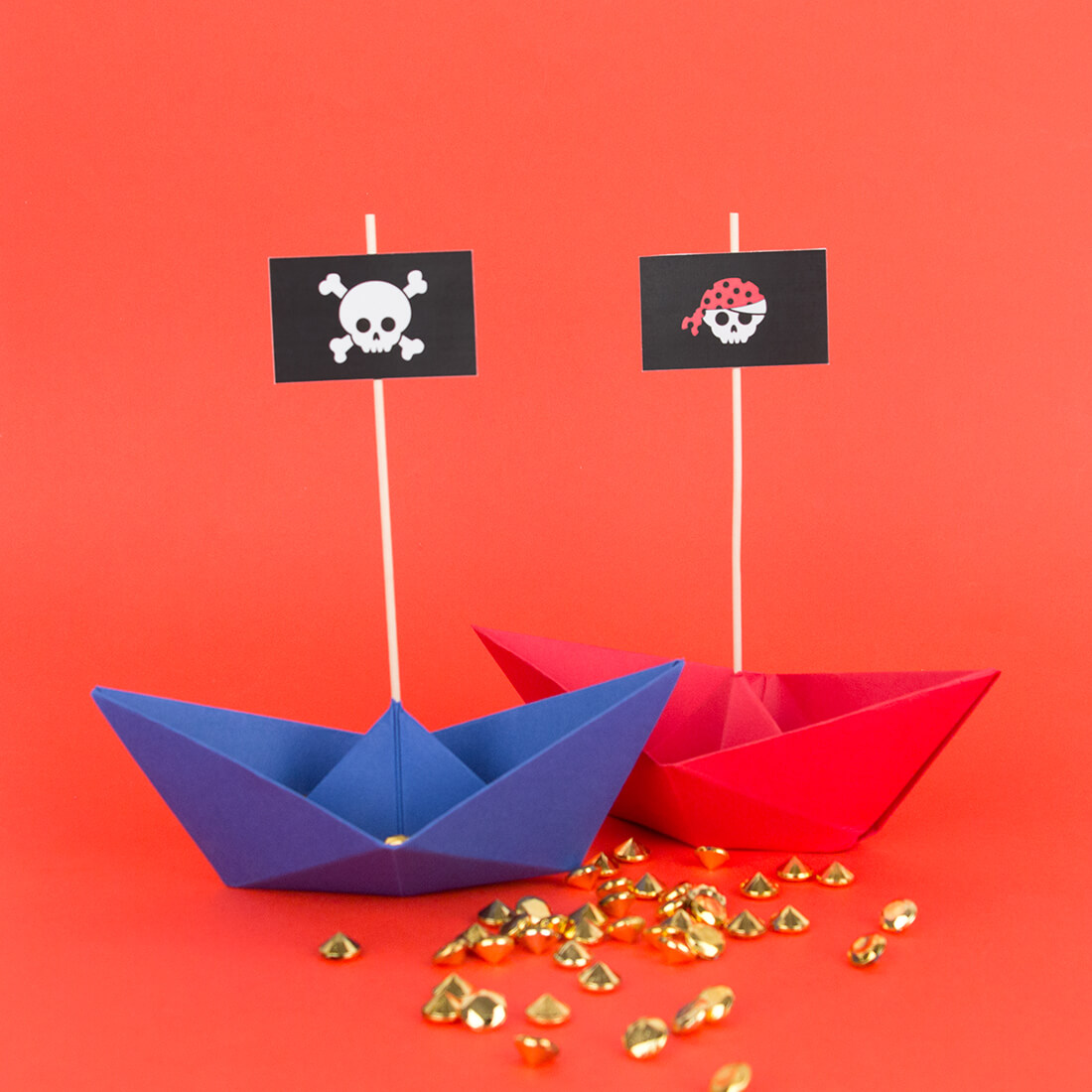 Pirate Toppers And Origami Boats Cake Decor My Little Day Blog