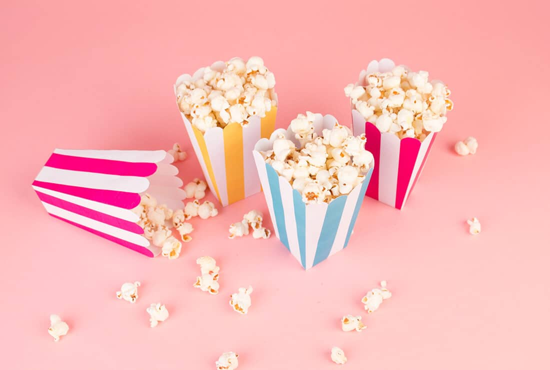 DIY pyjama party pop corn