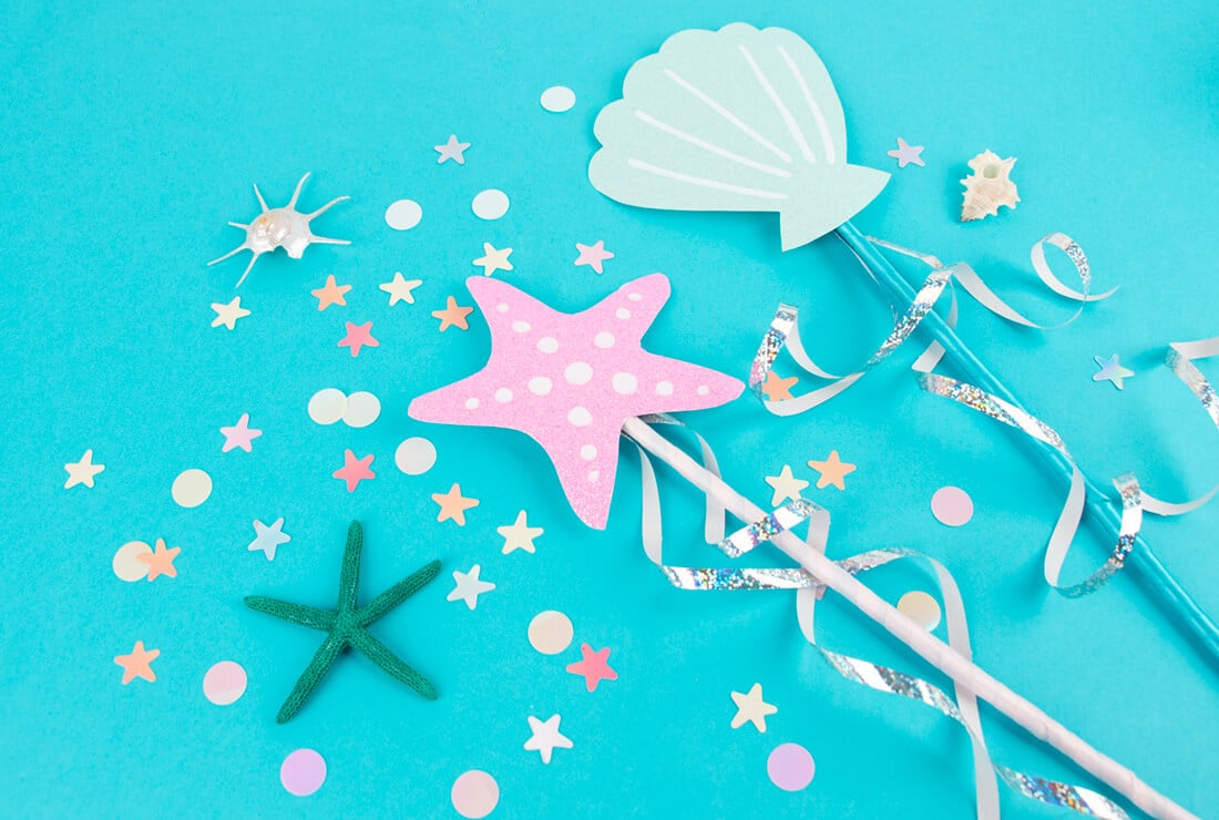 DIY mermaid wand