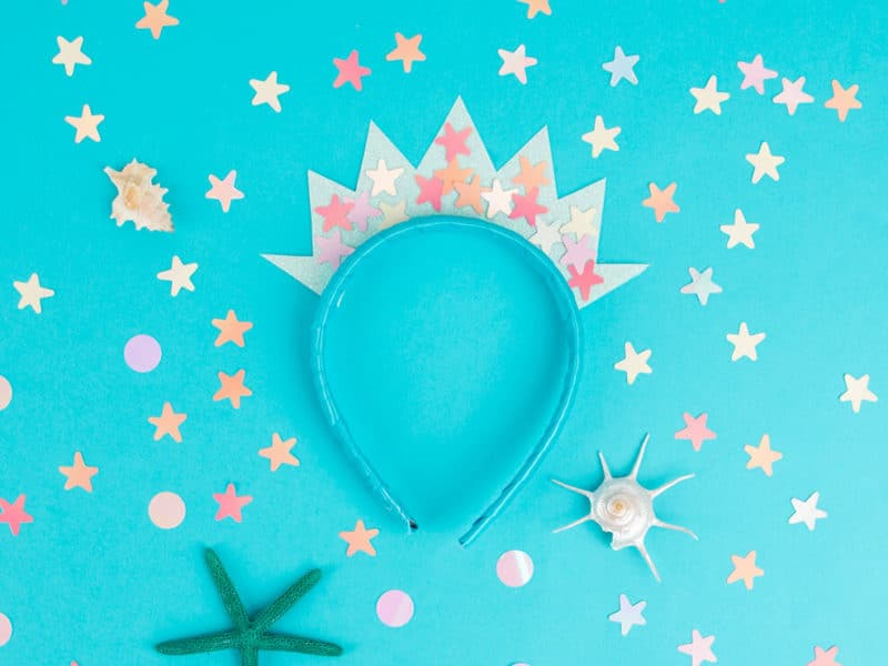 DIY mermaid crown