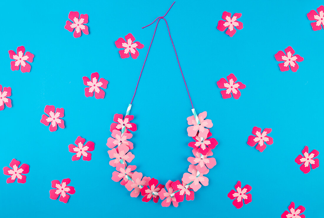 Moana flower necklace DIY