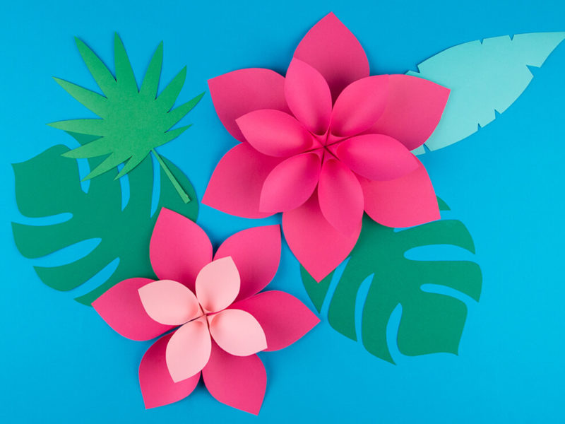 Paper Flowers decor diy