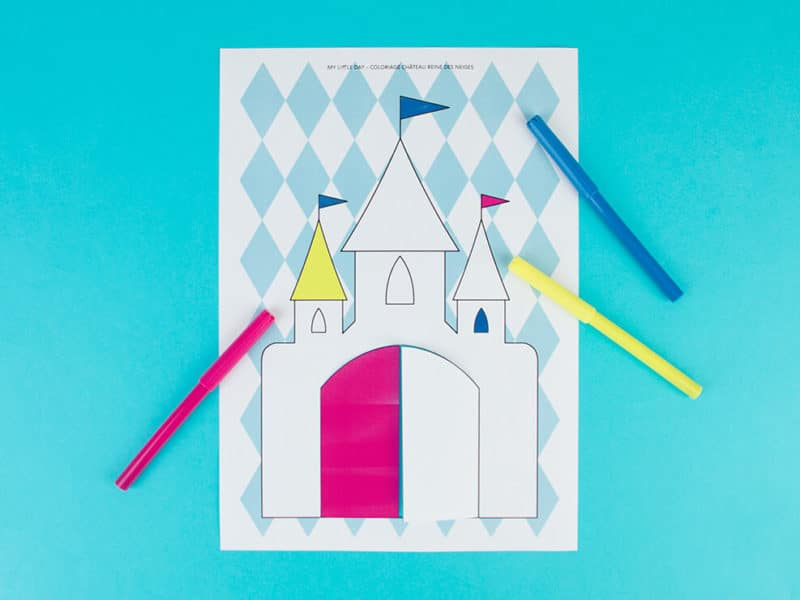 frozen DIY colouring castle