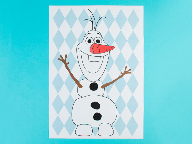 Pin the Carrot Nose on Olaf DIY
