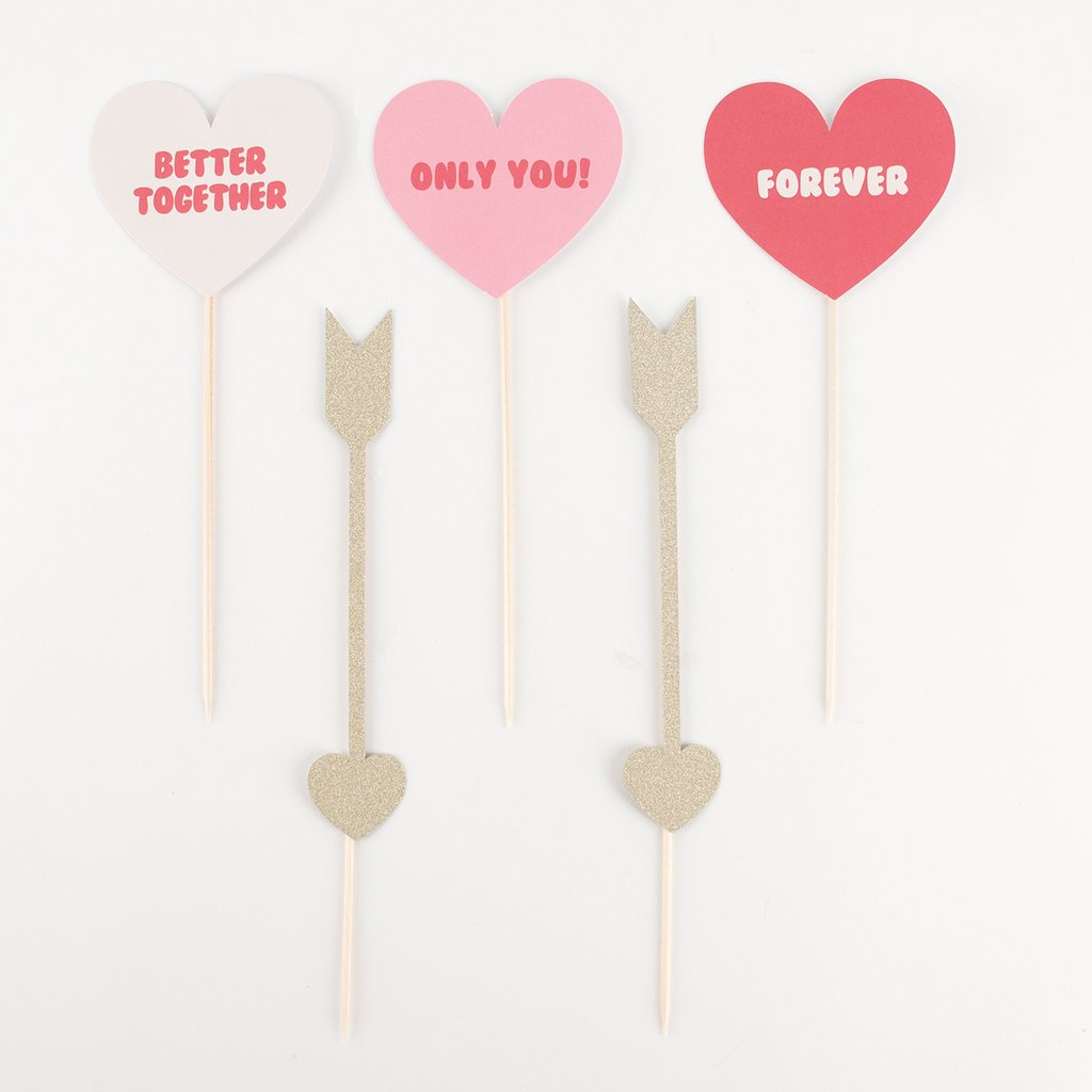 Toppers coeur - My Little Day - le blog