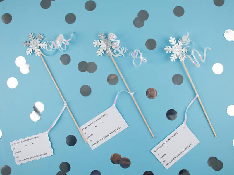 frozen magic wand invitation