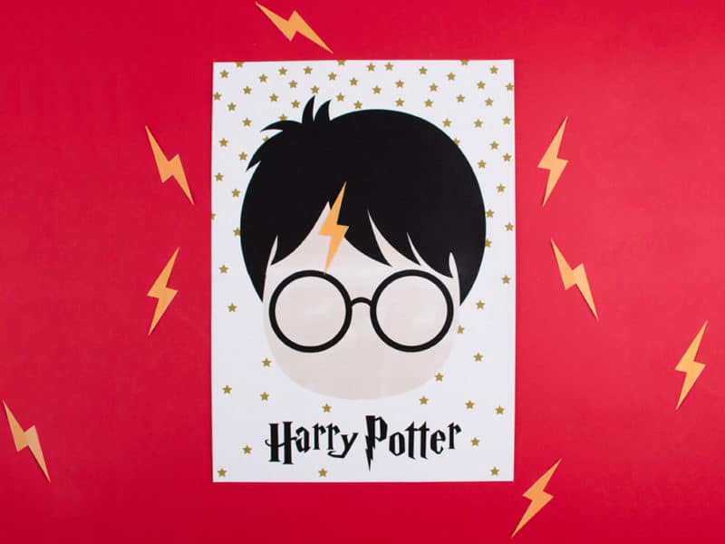 pin the lightning bolt on harry potter