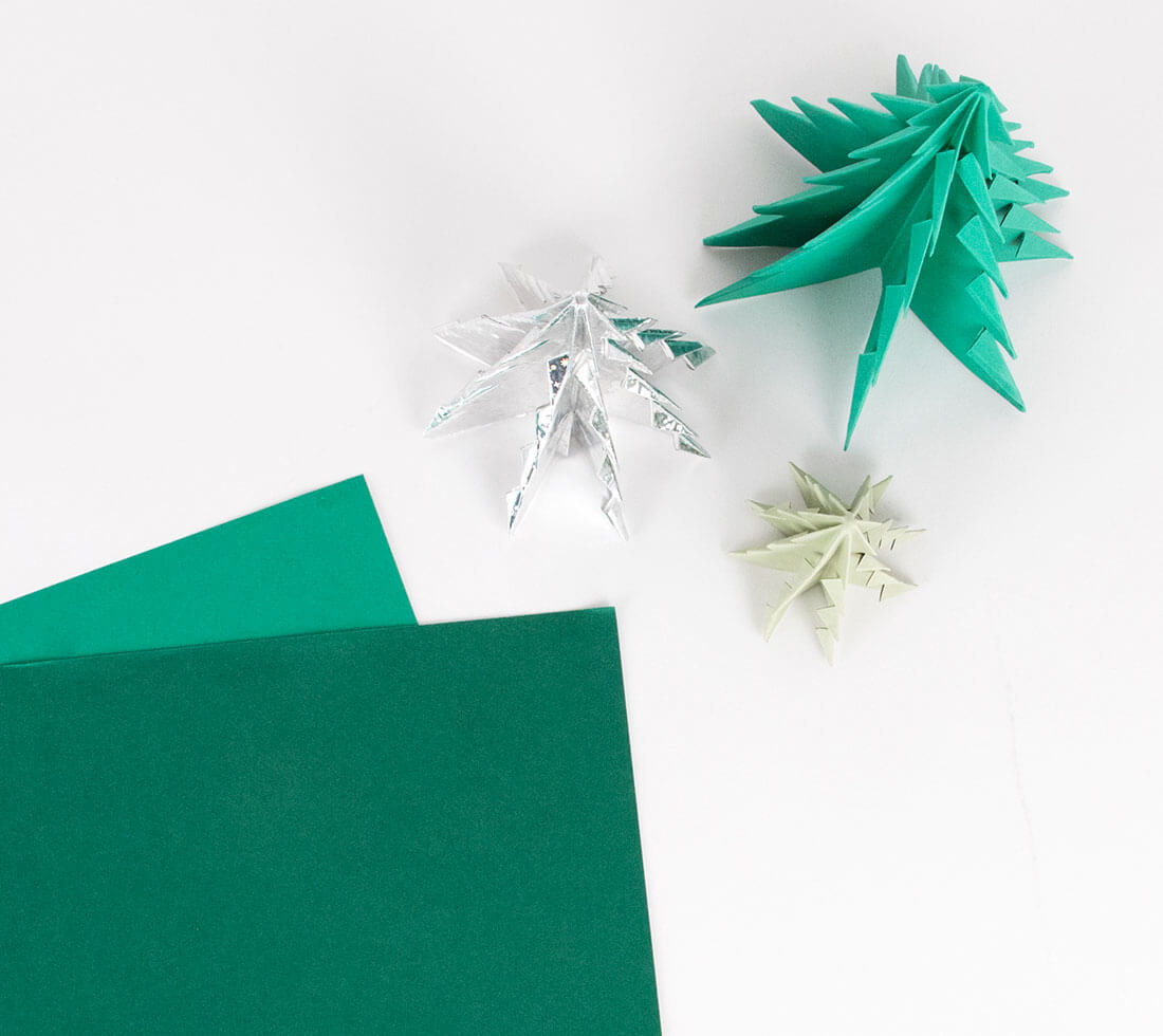 How to Make an Origami Christmas Tree: 14 Steps (with Pictures) | 980x1100