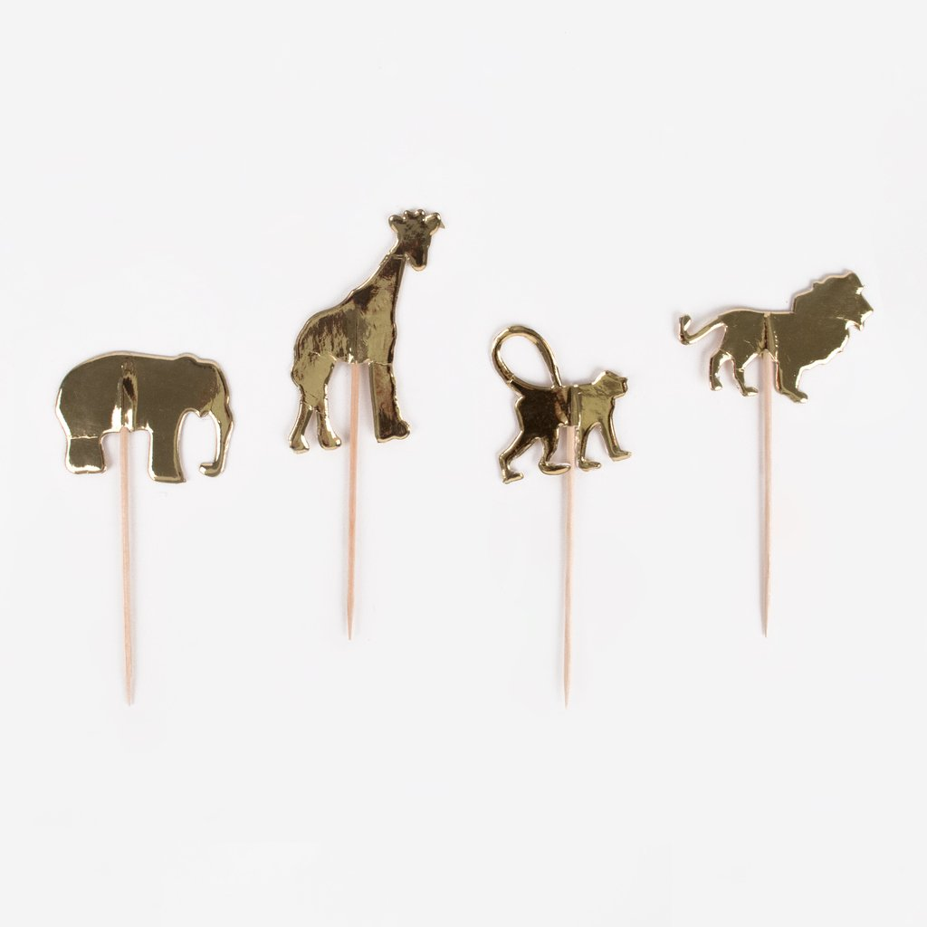 20 toppers animaux dorés  - My Little Day - le blog