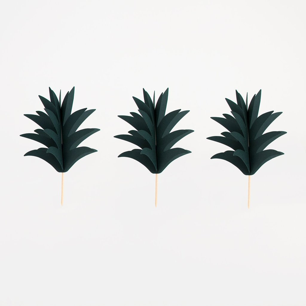 Toppers feuilles ananas - My Little Day - le blog