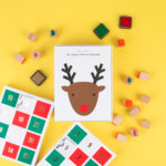 reindeer advent card