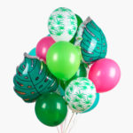 Grappe ballons feuilles tropicales