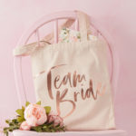 Tote bag imprimé team bride