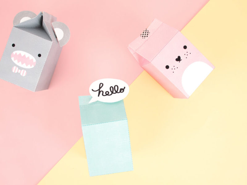Free diy by My Little Day to make Noodoll's milk cartons