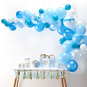 Kit arche de ballons bleu - My Little Day - le blog
