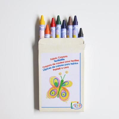 8 crayons textile - My Little Day - le blog