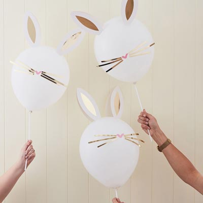 DIY : 5 ballons lapin lapin de Pâques - My Little Day - le blog