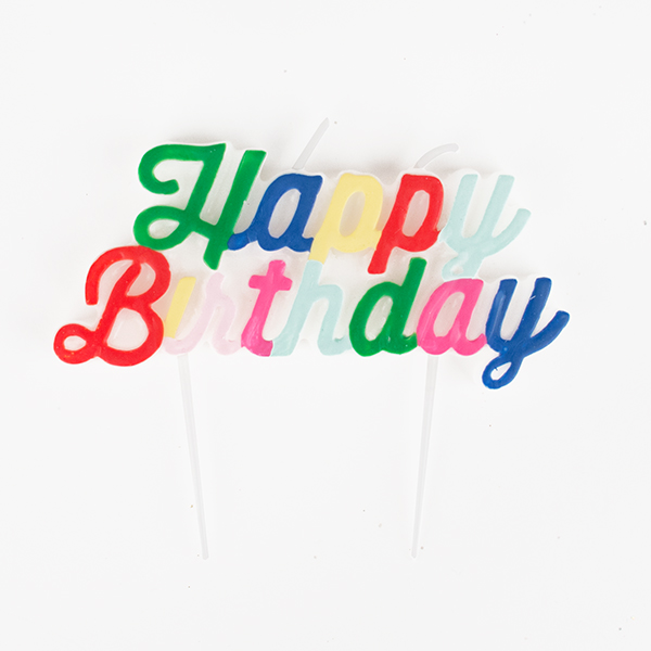 Bougie Happy Birthday multicolore - My Little Day - le blog