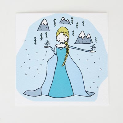 6 invitations Reine des Neiges - My Little Day - le blog