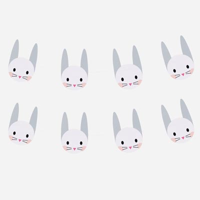 Guirlande en papier - Mini Lapin - My Little Day - le blog