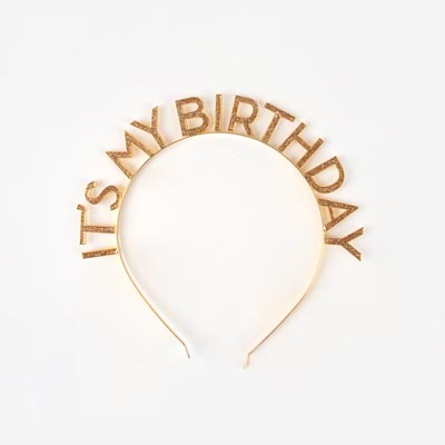Serre-tête it's my birthday - My Little Day - le blog