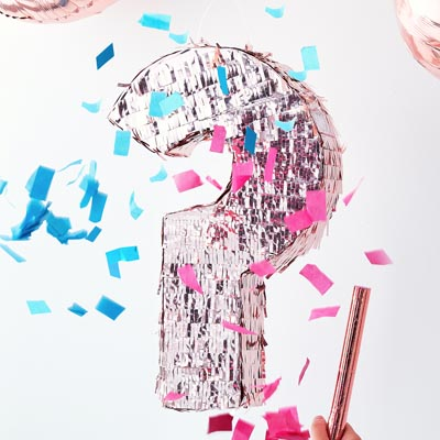 Pinata Gender Reveal - My Little Day - le blog