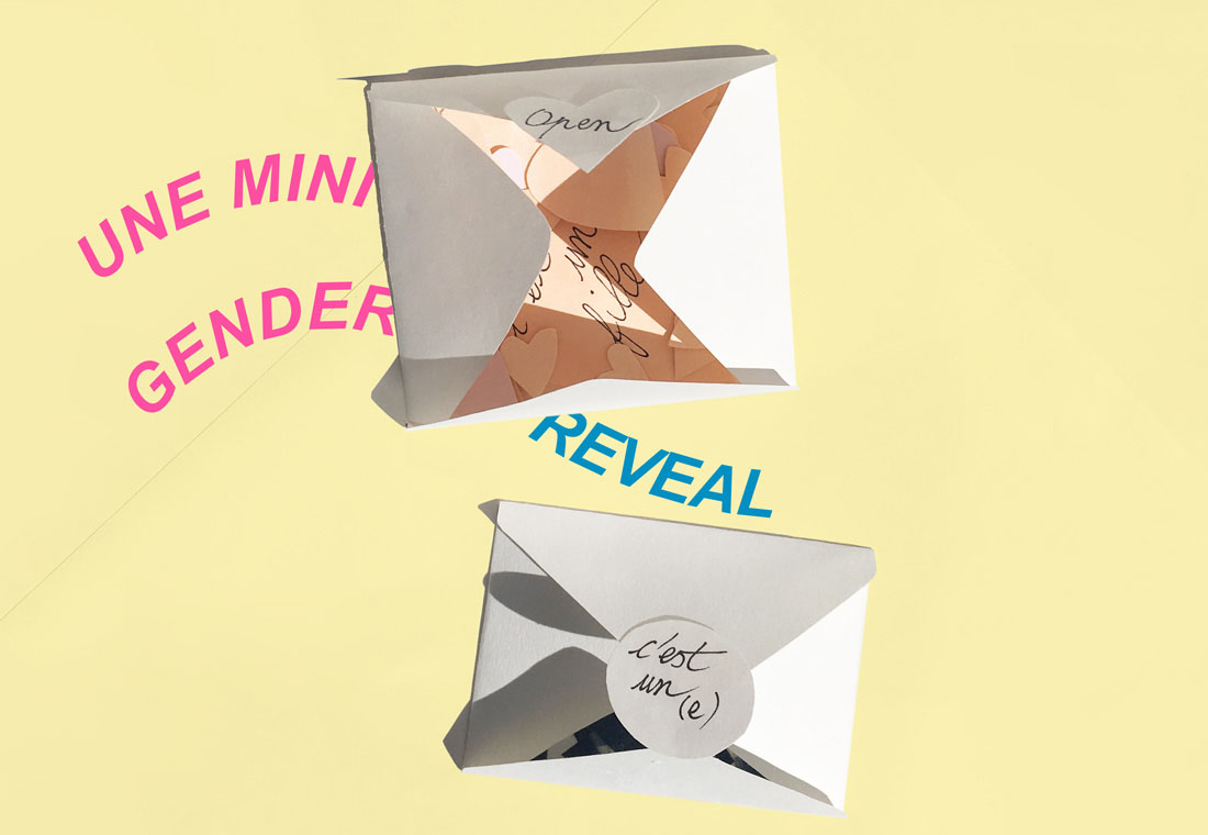 Gender reveal envelope